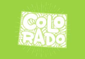 Colorado state lettering vektor
