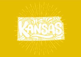 Kansas State Lettering vektor