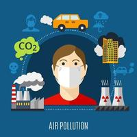 Luftverschmutzungskonzept vektor