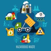 Abfall- und Verschmutzungskonzept vektor