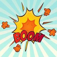 explosion retro komisk tecknad ikon vektor