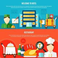 Willkommen im horizontalen Bannerset des Hotels vektor