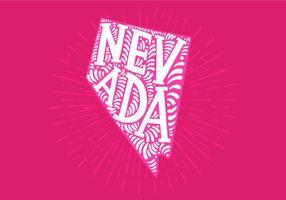 Nevada state lettering vektor