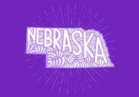 Nebraska statsbokstäver vektor
