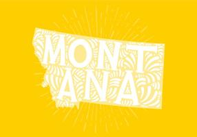 Montana statsbokstäver vektor