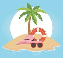 rolig sommarsemester och strandsammansättning