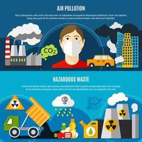 Verschmutzungsproblem Banner gesetzt vektor