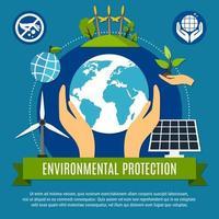 Ökologie- und Verschmutzungskonzept vektor