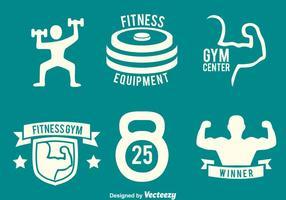 Fitness Gym Logo Vektorer
