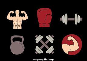 Fitness-Element-Vektoren vektor