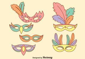 Masquerade Mask I Pastellfärger Vektorer