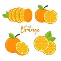 Orangenfruchtset
