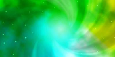grünes Muster mit abstrakten Sternen.