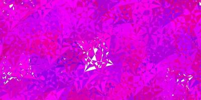dunkelviolette Textur mit zufälligen Dreiecken. vektor