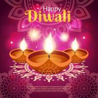 Diwali realistische Vorlage Banner vektor
