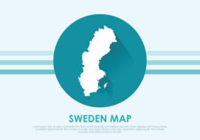 Sverige Karta Illustration vektor