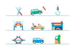 Auto Abschleppen und Reparaturen vektor