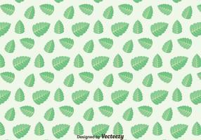 Grünes Blatt Stevia Muster Vektor