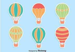 Heißluftballon-Sammlungsvektoren