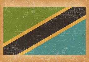 Grunge Flagga av Tanzania vektor