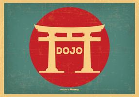 Retro stil Dojo illustration vektor