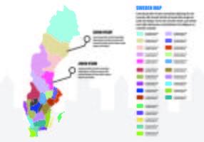 Sverige Karta Infographic