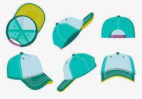 Leere Vorlage Fernlastfahrer-Hut-Farben-vektor-Satz vektor