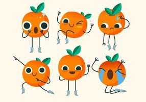 Clementine söt karaktär utgör vektor illustration