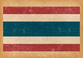 Grunge Flagga av Thailand vektor