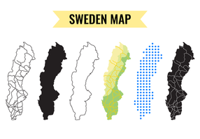 Sverige Karta Vektor