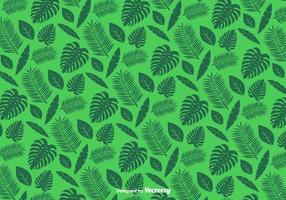 Grün Blätter Muster - Vektor