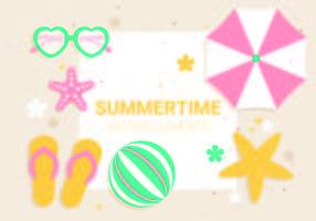Freie Vektor Sommerzeit Illustration