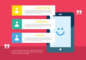 Kunden-Testimonials Vector Hintergrund