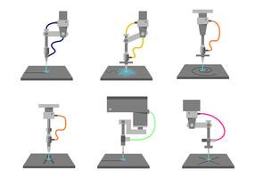 Wasserstrahl-Maschinenvektoren
