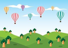 Heißluftballon Vektor Hintergrund