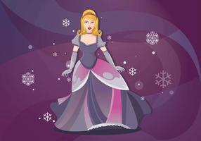 Dressed Up Princesa für Abend Gala Vektor Hintergrund