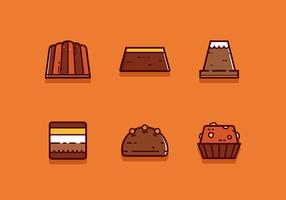 Freier Schokoladen-Vektor