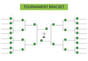 Tournament Bracket Blank Mall Vector