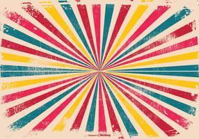 Färgglada Grunge Sunburst Bakgrund