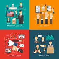 Politik und Wahlzusammensetzung festgelegt vektor