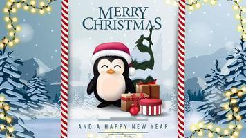 god jul och vykort för gott nytt år vektor