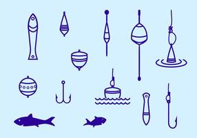 Fiskehantering Stroke Icon vektor
