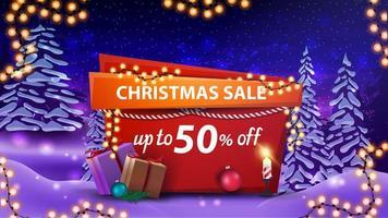 Weihnachtsverkauf, Rabatt Banner