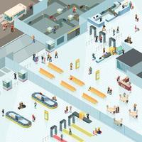 isometriska flygplatszoner vektor