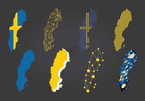 Art von Schweden Karten Vektor