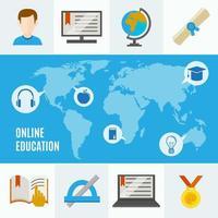 e-lärande och online-utbildningskoncept