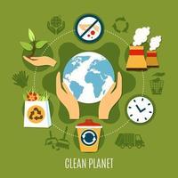 rundes Diagramm zur Müllbeseitigung vektor