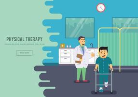 Freier Physiotherapeut mit seiner Patientenillustration