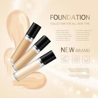 realistisk kosmetisk mall reklam banner