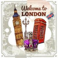 London Skizze Poster